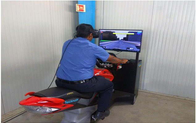 VR Based motorcycle training simulator by Tecknotrove